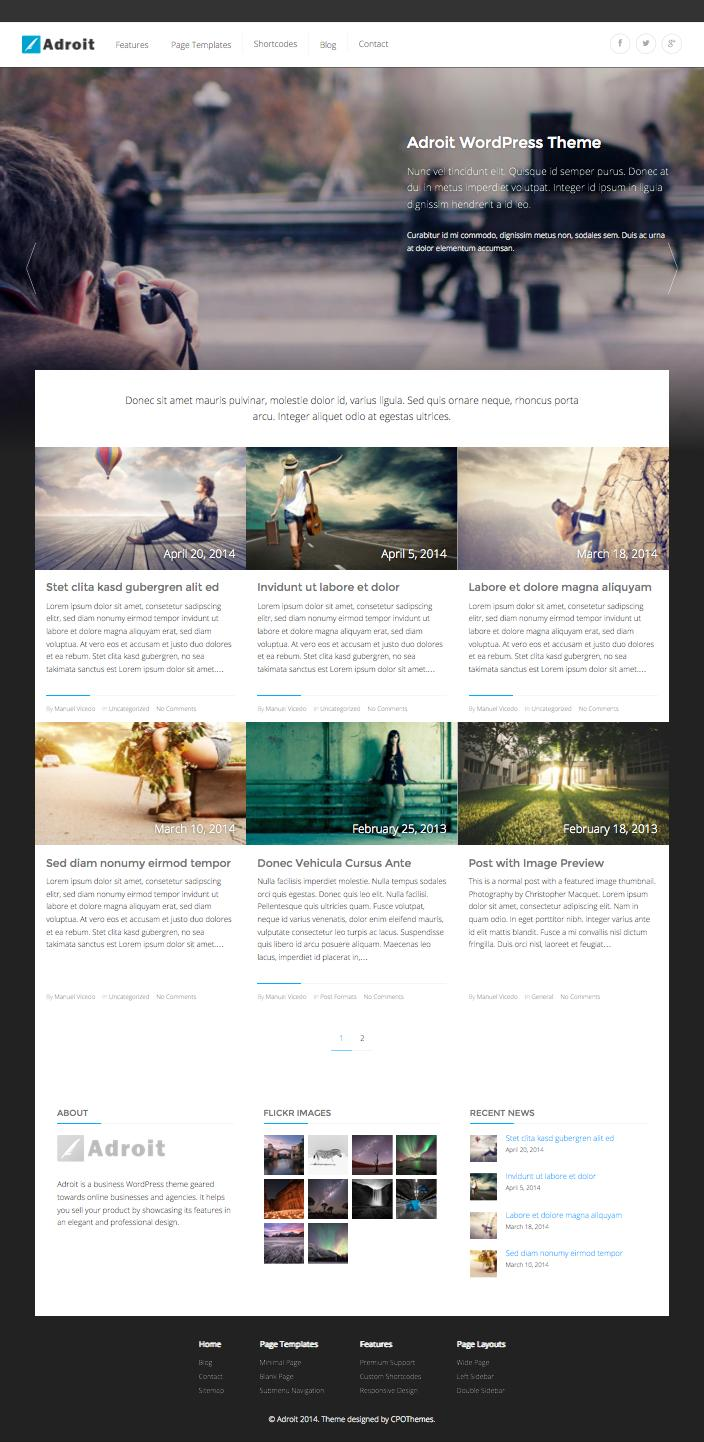 Adroit WordPress Magazine Blogging Theme