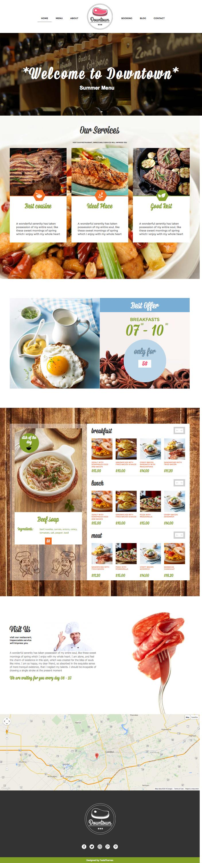 Downtown WordPress Food, Recipe Theme