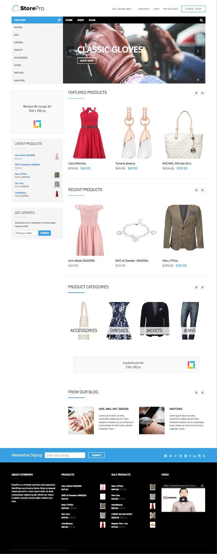 StorePro WordPress eCommerce Product Theme