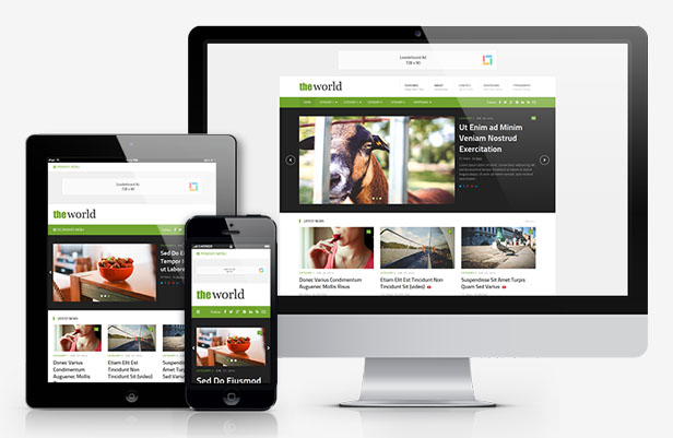 theWorld Responsive WordPress Magazine Theme