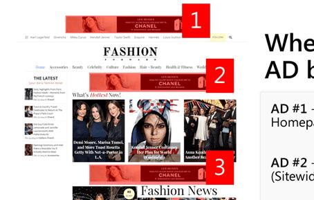 FashionForward WordPress Theme Advertisment Slots