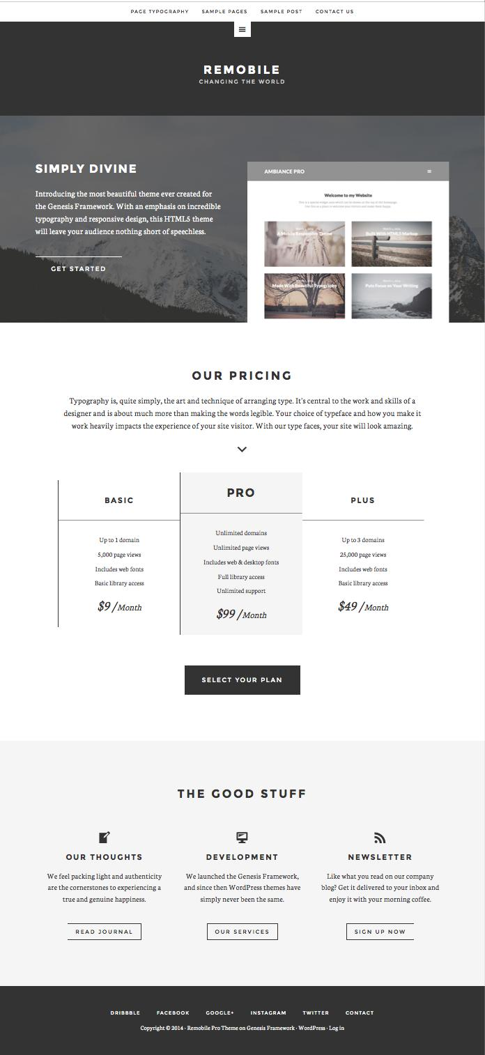 Remobile Pro WordPress Business Theme