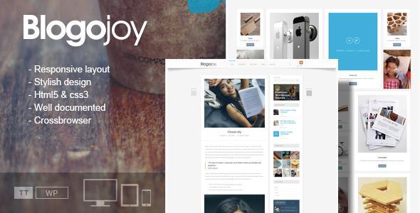 Blogojoy Responsive WordPress Blog Theme