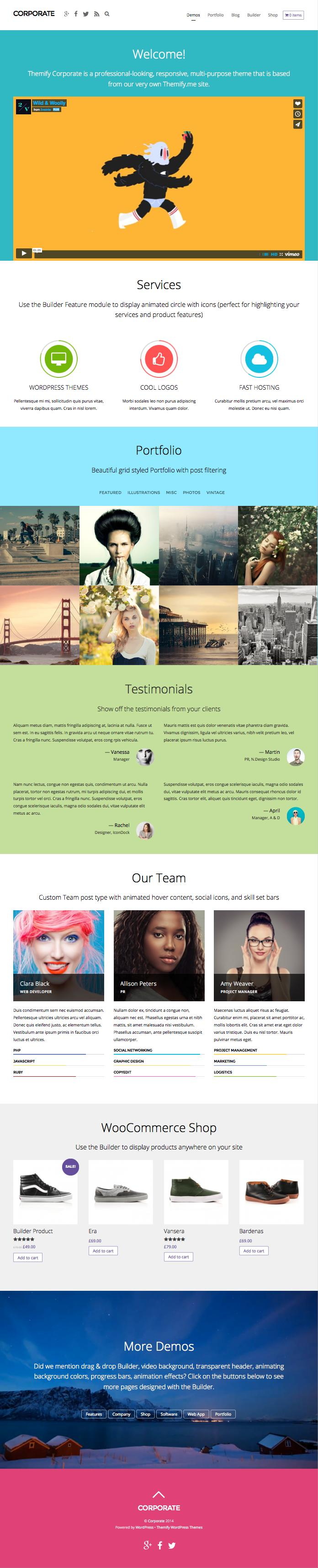 Corporate WordPress Multipurpose Theme