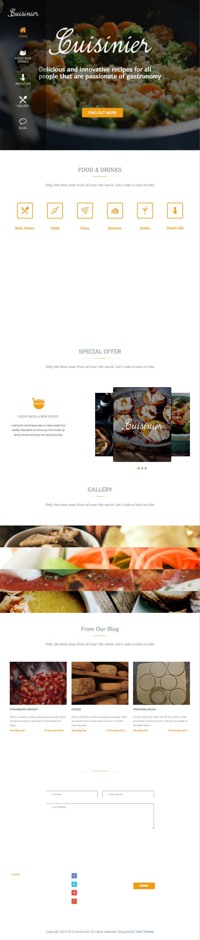 Cuisinier WordPress Food Recipe Theme