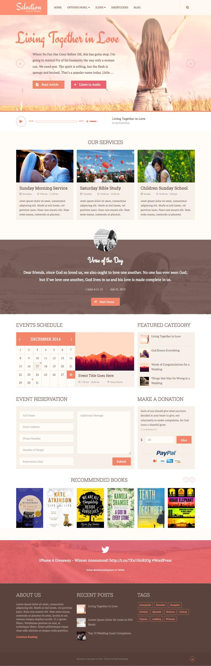 Salvation WordPress Community Center Theme