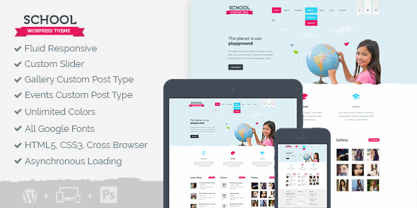 School WordPress Education Institutes Theme