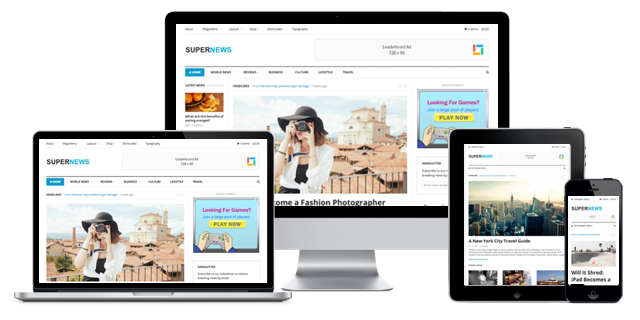 SuperNews WordPress Responsive Multipurpose Magazine Theme