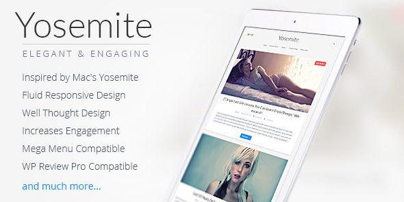 Yosemite WordPress Mac OSX Theme