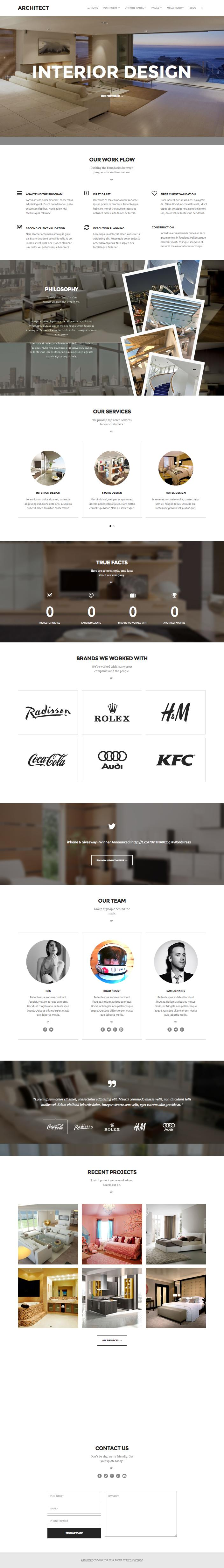 Architect Responsive WordPress Blogs Theme