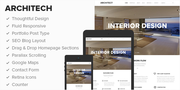 Architect Responsive WordPress Businesses Theme