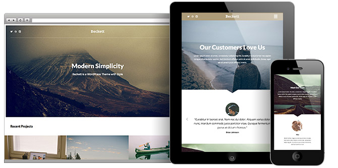 Beckett Responsive WordPress Portfolio Theme