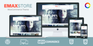 eMaxStore Responsive WordPress eCommerce Theme