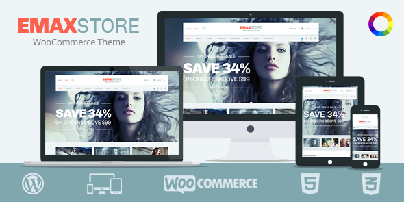 eMaxStore Responsive WordPress eCommerce Theme