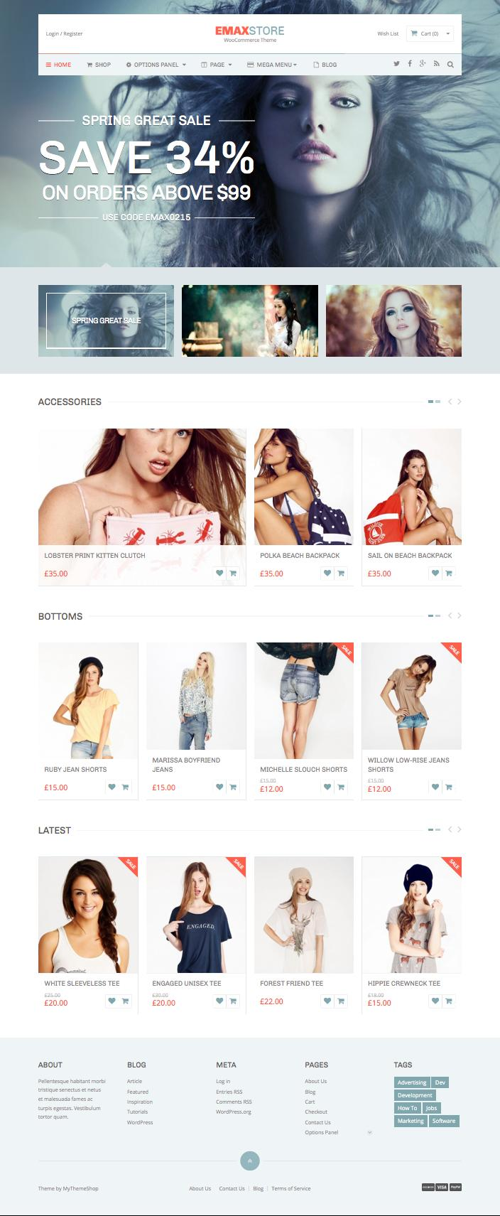 eMaxStore WordPress Showcase & Sell Goods Theme