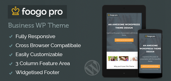 Foogo PRO WordPress Business Growth Theme