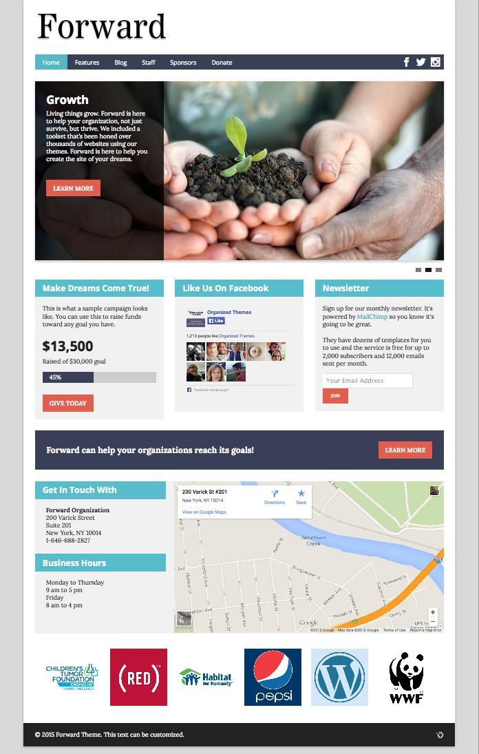 Forward WordPress Non-Profit Organizations Theme