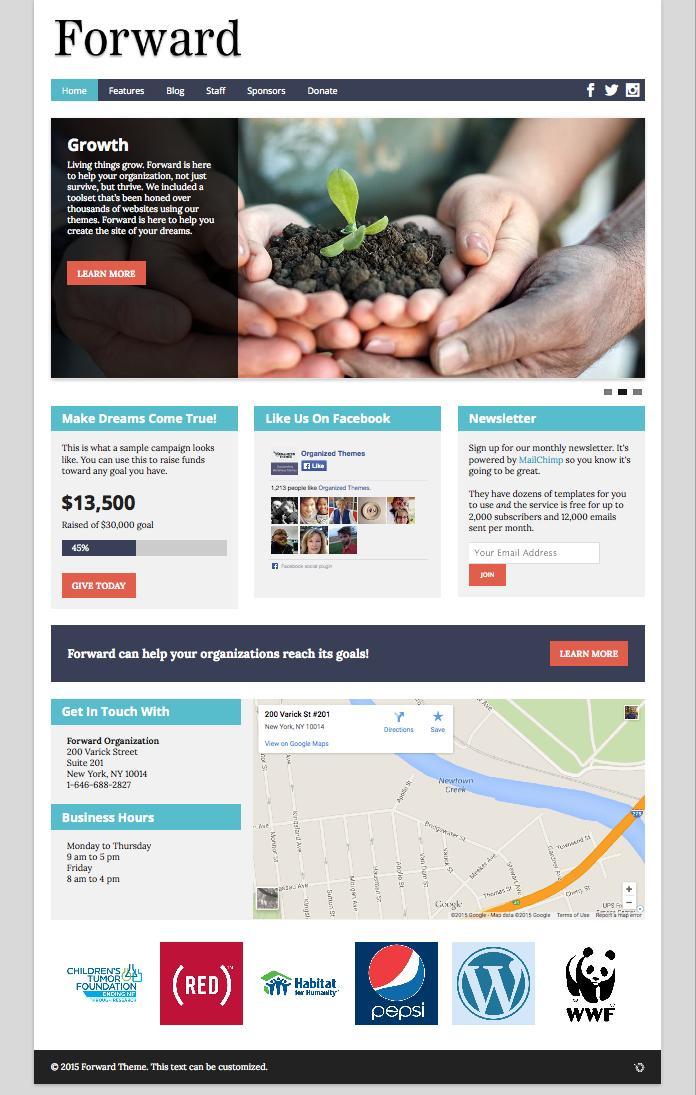 Forward WordPress Non-Profit Organizations Theme