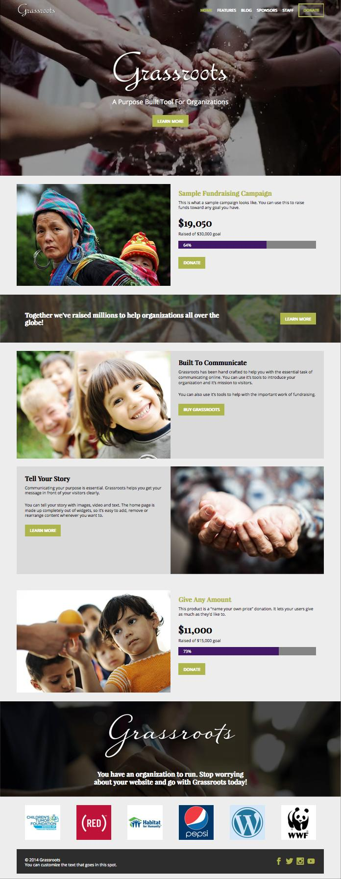 Grassroots WordPress Non-profit Organization Theme