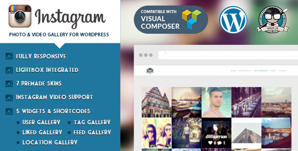 Instagram Photo & Video Gallery WP Plugin