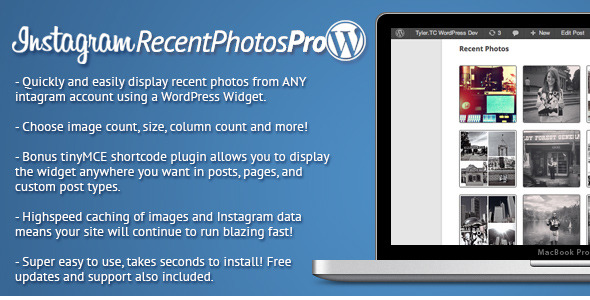Instagram Recent Photos Widget Pro for WordPress Plugin