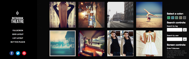 Instagram Theatre WP Plugin