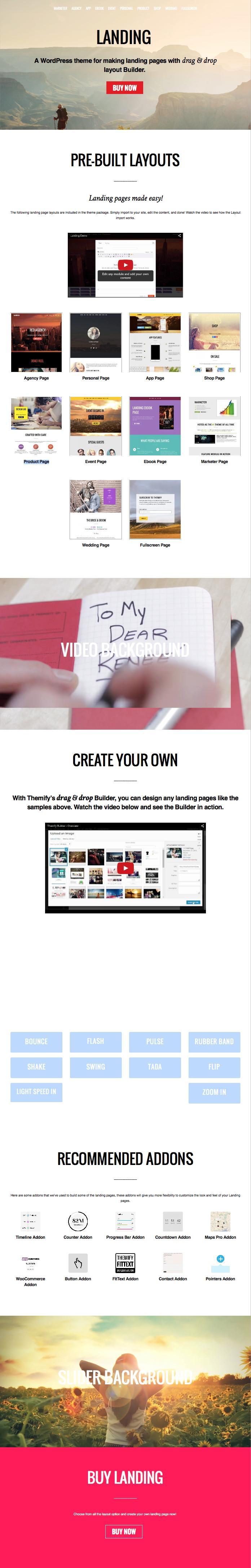 Landing WordPress Product Promotion Theme