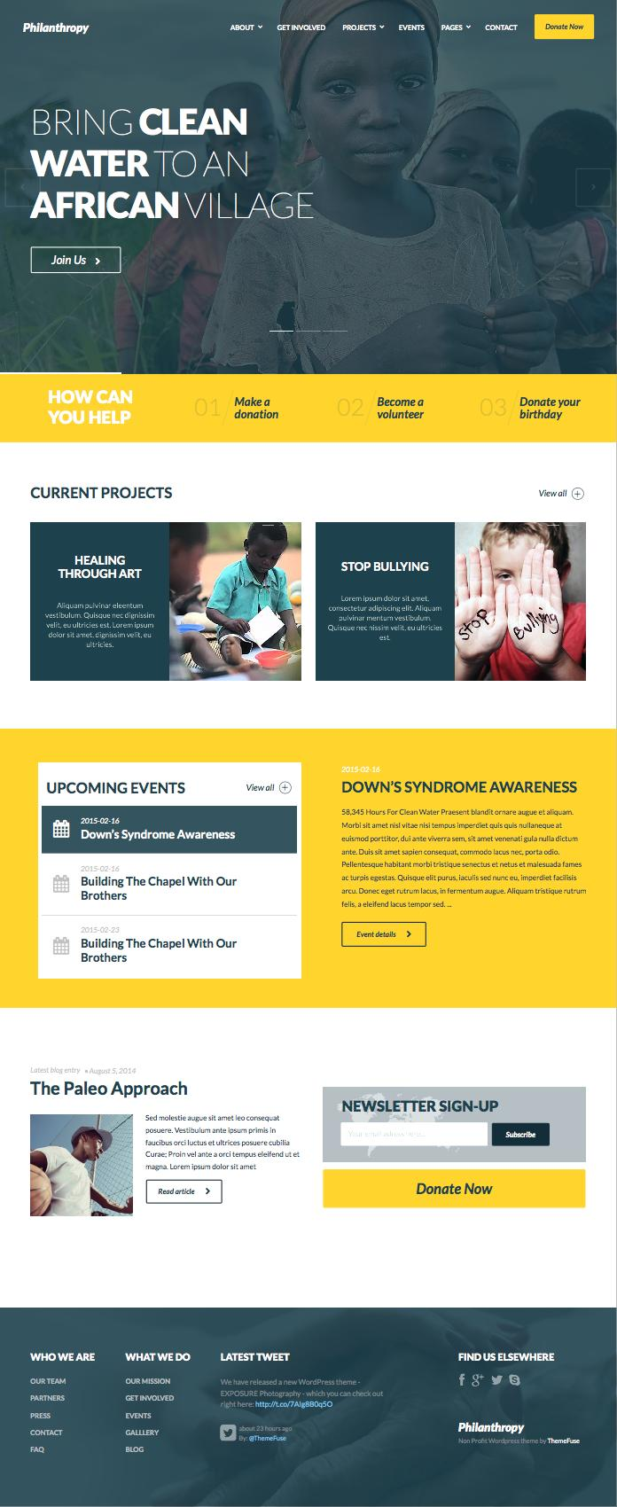 Philanthropy WordPress Non-profit Groups Theme
