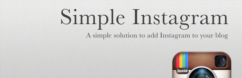 Simple Instagram WP plugin