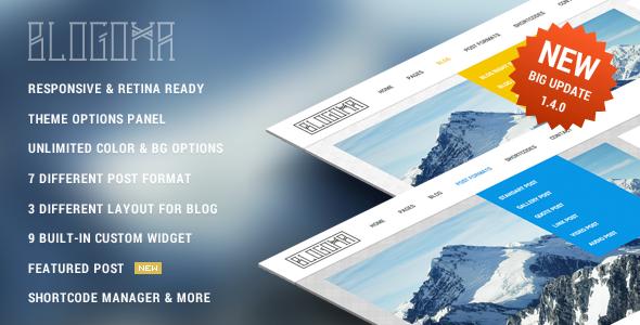 Blogoma WordPress Sweetest Simple Blog Theme