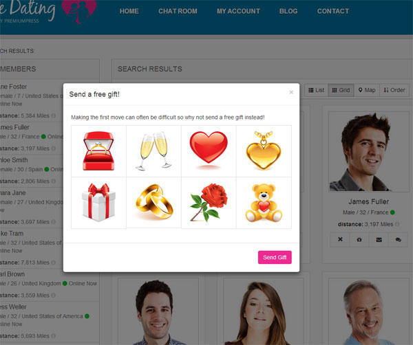Gratis WordPress Theme dating site