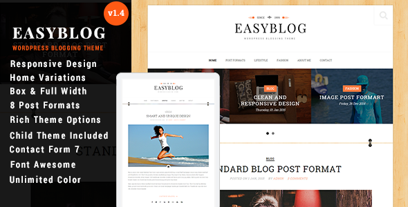 Easyblog Unique & Modern WordPress Blog Theme