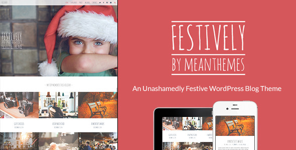 Festively WordPress Celebratory Blog Theme