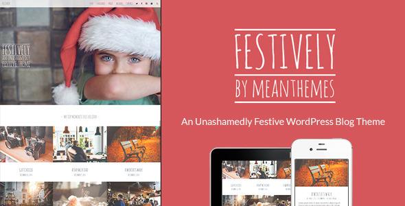 Festively WordPress Celebratory Blog Theme