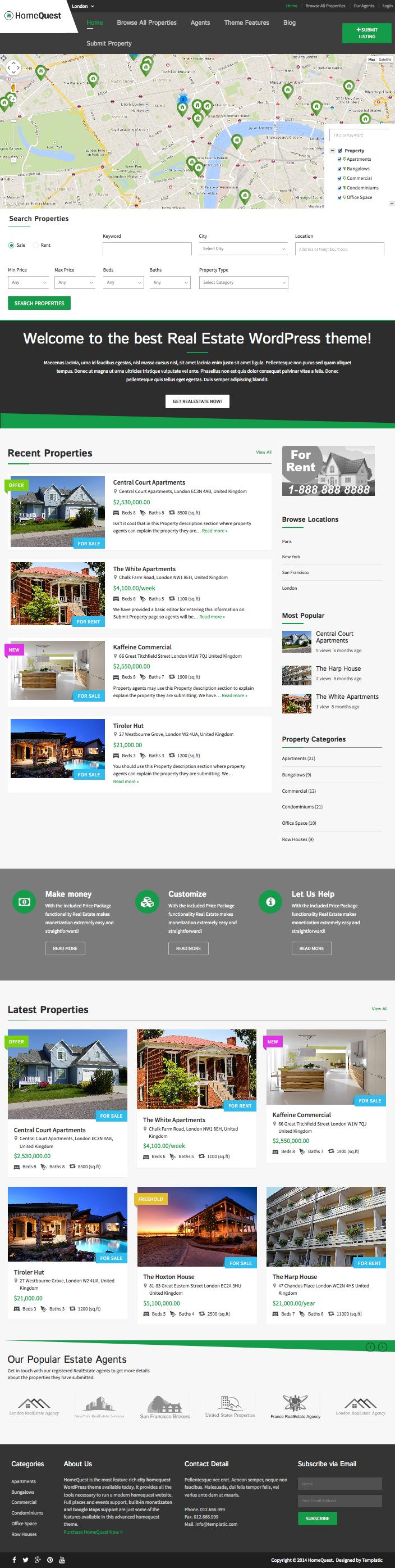HomeQuest WordPress Property Directory Theme