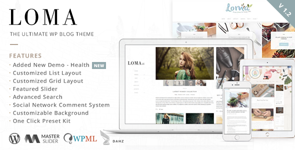 Loma Ultimate WordPress Blog Theme