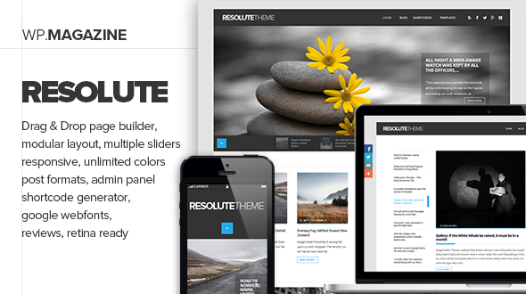 Resolute WordPress Elegant Journal Blog Theme