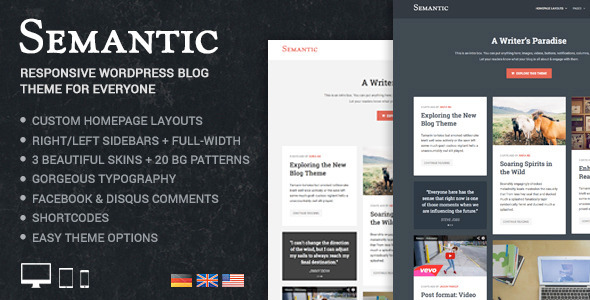 Semantic Responsive Trendy WordPress Blog Theme