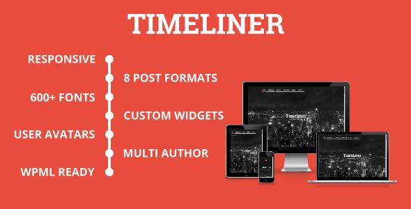 Timeliner Timeline Blogging WordPress Theme