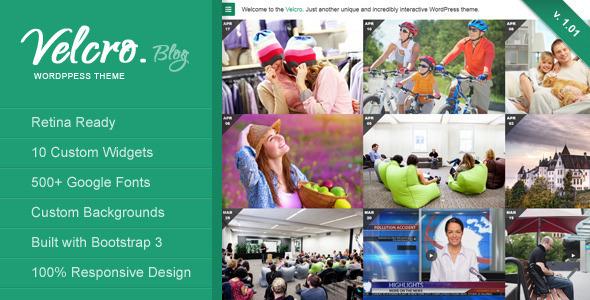 Velcro Retina Responsive WordPress Blog Theme