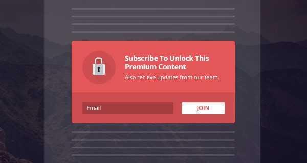 Bloom Require Opt-In To Unlock Newsletters Content WP Plugin