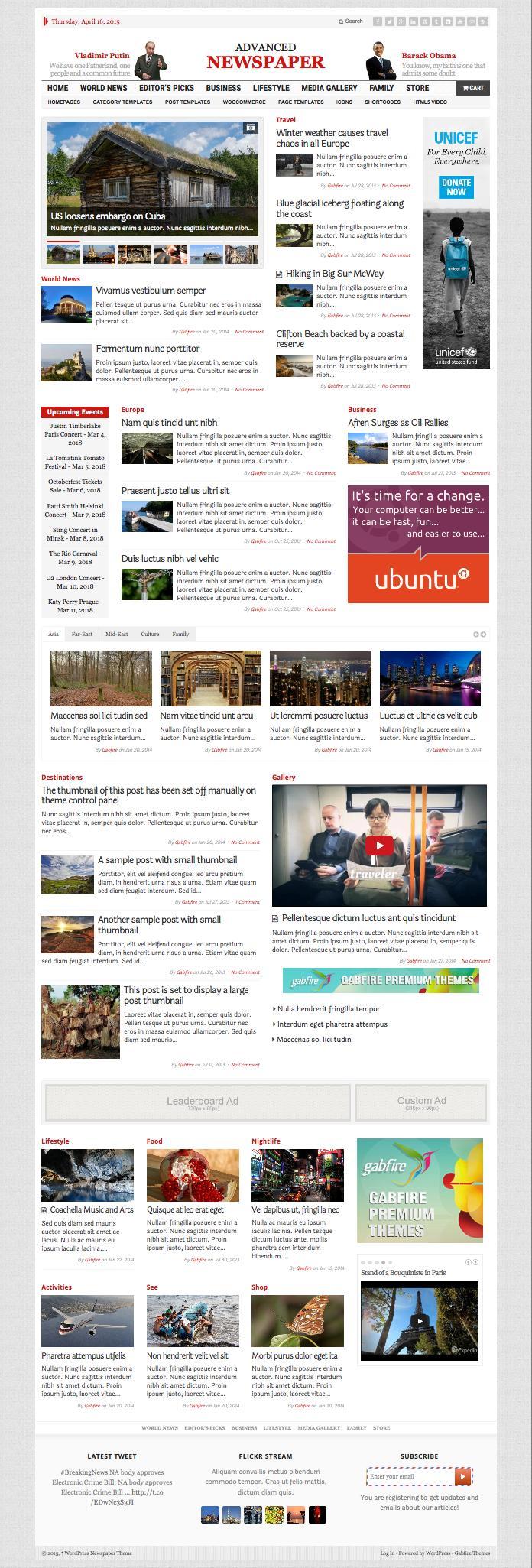 Advanced Newspaper WordPress Theme
