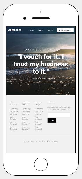 Approduce Responsive WordPress Landing Page Theme