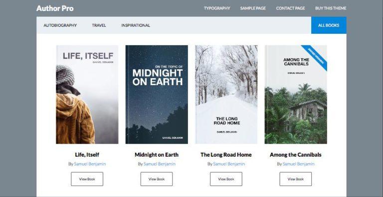 Author Pro WordPress Theme for Published Books or Travel History!