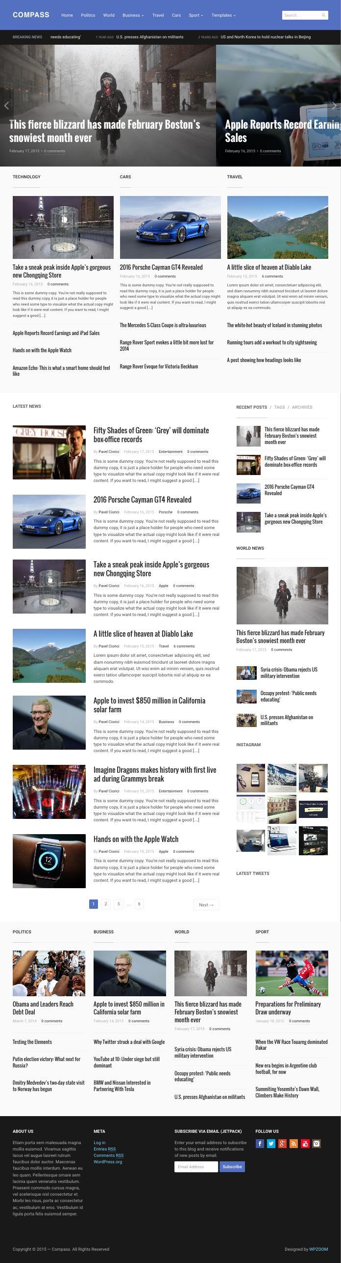 Compass WordPress Magazine Style Theme