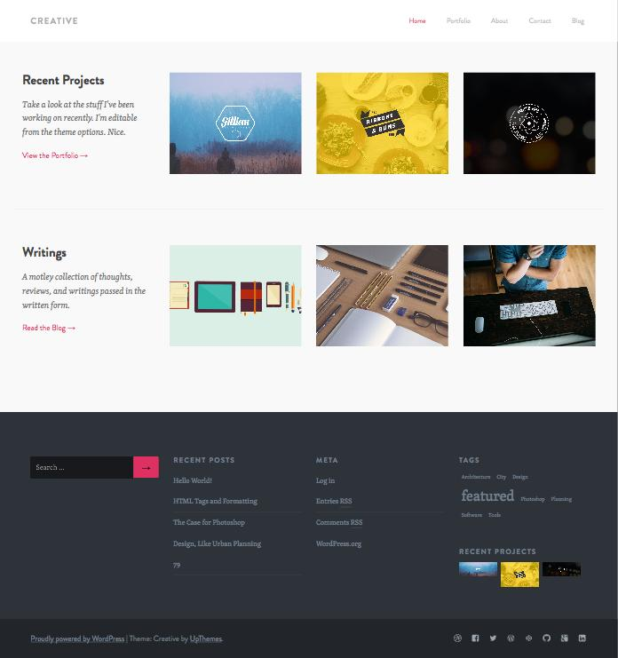 Creative WordPress Portfolio Dribbble importer Theme