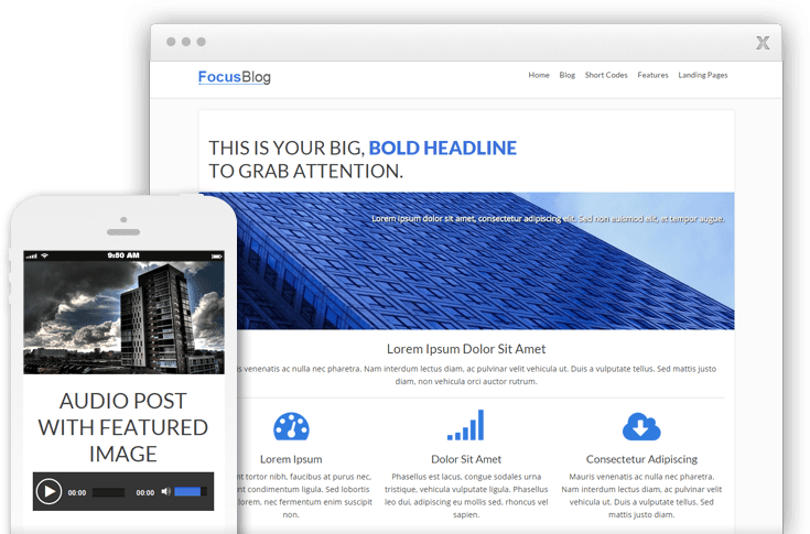 FocusBlog WordPress Conversion-Focused Blog Theme
