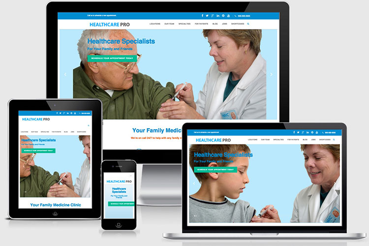 Healthcare Pro WordPress Doctors & Nurses Theme copy