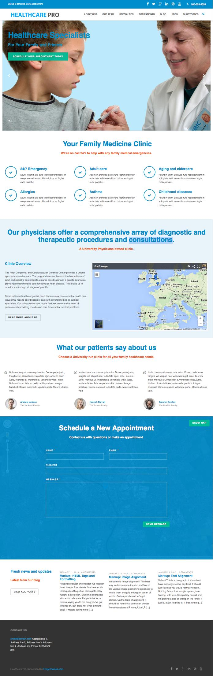 Healthcare Pro WordPress Medical Theme