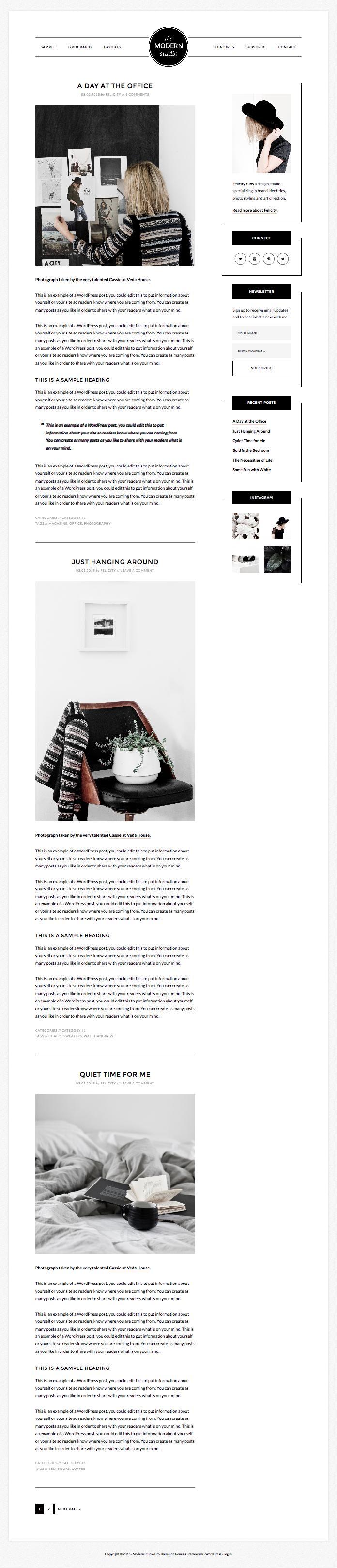 Modern Studio Pro WordPress Web Designers Theme